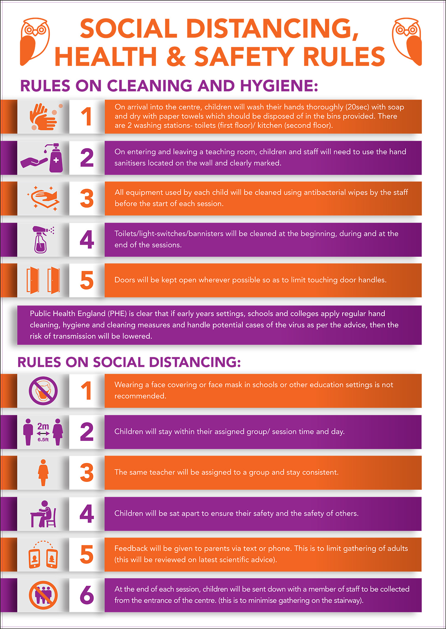 social distancing health and safety rules